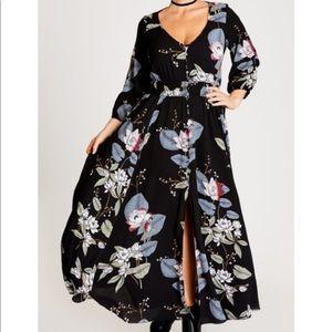 NWT City Chic Blossom Maxi Dress Size 16